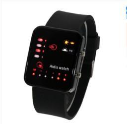 Wholesale Hot sale Technological Sense Binary Digital LED Decoration Waterproof Boys Girls Sports Casual Wrist Watch