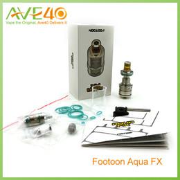 Wholesale Footoon AQUA FX Sub Ohm Tank ml ml Capacity Top Filling Ultem Material Drip Tip VS Mirco One