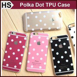 Wholesale Polka Dot TPU Case For iPhone S Plus Bling Powder Soft Transparent Frame Bumper Skin Cover DHL