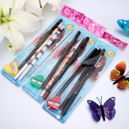Wholesale EDG B2614 ultra soft waterproof facial plastic pen weather anti blooming lovely Korean pencil value package affordable gift