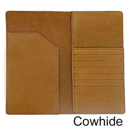 Wholesale-Fashion Brown Genuine Leather Passport Holder ID Card Passport Cover Travel Wallet Boarding Pass Holder for Men 2015