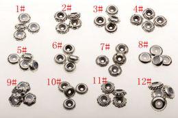 Wholesale Hot Ancient Sliver Bulk Shiny Stopper Rubber Beads Fit Charms Bracelet style