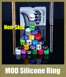 Wholesale Colorful Non Slip Silicone Ring for e Cigarette Mod Vapor Silicone Band Vape Ring Non Skid Silicon Ring for Mahattan Apollo Subtank FJ115