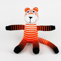 Wholesale Handmade baby toys sock monkey tiger stuffed animal doll