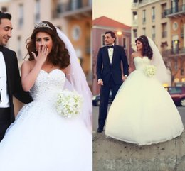 Amazing White Wedding Dresses 2015 Vestidos de Novia ball Gown Bridal Gowns Custom made with Sweetheart Pleated Floor Length Back Lace Up
