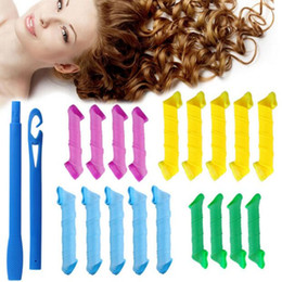 Wholesale MAGIC LEVERAG Magic Hair Curler Roller Tool Convenient DIY Magic Circle Hair Styling Rollers Curlers Adapt Dry and Wet Hair set
