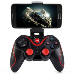 Wholesale Terios T3 Wireless Bluetooth Gamepad Joystick Game Gaming Controller Remote Control for iphone ios Samsung S6 S7 Android phone with Holder