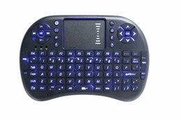 Wholesale Portable mini keyboard Rii Mini i8 Wireless bluetooth Keyboards game Fly Air Mouse Multi Media Remote Control Touchpad Handheld Android PC