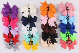 Factory Price Grosgrain Ribbon Flowers With Clips Artificial Baby Boutique Hair Bows Girl Barrettes Hair Accessories For Christmas Gift