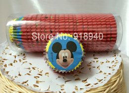 Wholesale 500X Mickey Mouse Baby Shower Christmas Wedding Cupcake Liners Decoration Mini Baking Paper Cup Muffin Case Wrapper