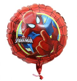 Wholesale New Arrivel quot Round Spiderman Balloon Cartoon Superman Foil Helium Balloons For Childs Toys JIA065