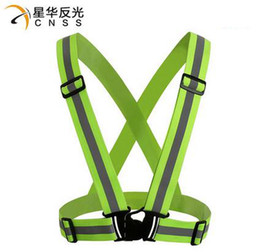 Wholesale 360 Degrees High Visibility Neon Safety Vest Reflective Belt Safety Vest Fit For Running Cycling Sports Outdoor Clothes