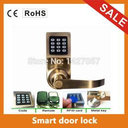 Wholesale intelligent smart remote control digital code induction door lock lock induction card key remote hotel office home lock