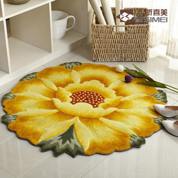 Wholesale Carpets Real Bathroom Carpet New cm Colors Flower Modelling Rug Carpet Kitchen Doormat Bathroom Non slip Mat Cp006