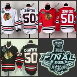 Wholesale Hot Items Chicago corey crawford Blackhawks red black white Ice Hockey Jerseys Final Stanley Cup Patch Accept Mix order