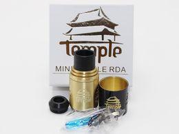 Wholesale 2016 Temple Mini RDA Atomizer Kit mm Adjustable Airflow Dual Post Atty Flat Head Screws Hex Screws Vs Temple RDA Twisted Messes
