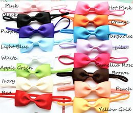 100pcs baby 2.5inch hair bow with mini Thin Elastic headbands girl hair accessorie bow flower hair band slender rubber hair ties PJ5283