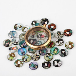 20PCS Lot Lovely Girl New Paint Glass Floating Charms DIY Charms Mixed Styles Fit Floating Lockets&Floating Locket Bracelet FC129