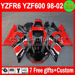 Wholesale 7gifts For YAMAHA YZF R6 Red blk YZF600 C L513 YZF YZF R6 YZFR6 Fairing Stock red On sale