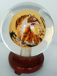Wholesale 2016 New glass globe terrarium inner tiger Chinese handicraft arts and crafts as a gift to send people or decorations