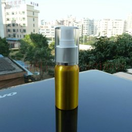 Wholesale 30ml aluminum gold bottle With white plastic silver mist sprayer aluminium bottle production aluminium bottle packaging