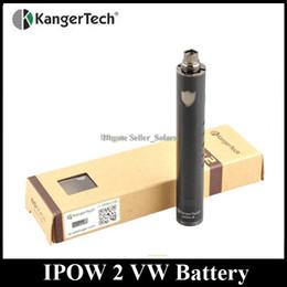 Original Kanger IPOW 2 Battery 1600mAh 3-15W Variable Wattage EGO 510 Thread fit Kanger Genitank Aerotank Series Atomizer