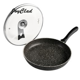 Wholesale Marble frying pan Heat Isolated Handle PFOA free stone Coated alloy non stick frying pan kitchen cooking tools