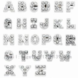 C p w en Línea-Iniciales letras A B C D E F G H I J K L M N O P Q R S T U V W X Y Z encantos flotantes para la memoria locket de cristal vivo no locket de cristal 260 / LOT