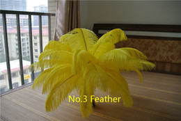 Wholesale 100 pcs 12-14inch yellow ostrich feather plumes for wedding centerpiece decoraction feather costumes feather decor