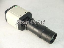 Wholesale in1 HD Industry Microscope Camera MP VGA USB CVBS AV TV Outputs X C Mount Lens power line software