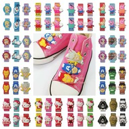 Wholesale 500pcs Star wars Hello Kitty Pink pig Avengers Elsa shoelace pvc shoe decoration cartoon shoe buckle Shoelace Charms shoe accessories clips