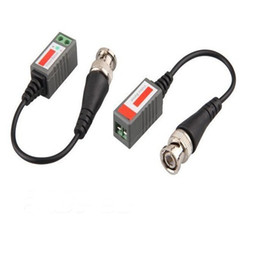 Wholesale 200 pair Camera CCTV BNC CAT5 Video Balun Transceiver Cable New dhl