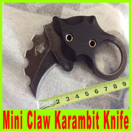 201410 THE ONE Mini Claw Karambit AUS-8 folding blade EDC knife Anti-slip G10 handle with Kydex outdoor survival pocket knife 412X