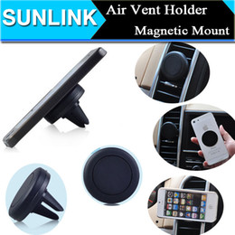 Wholesale Magnets Bracket Universal Magnetic Car Air Vent Holder Outlet Mount For iPhone Samsung Cell Phone Mounts Holders DHL Free