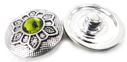 Free drop shipping noosa crystal button DIY snap noosa metal chunks charms ,for Noosa jewelry