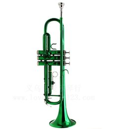 LADE Red Green trumpet in B flat trumpet wind instrument wholesale