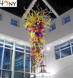 Free Shipping Elegant Ceiling Light Colorful Modern Art Glass Europe Style Chandelier Lighting