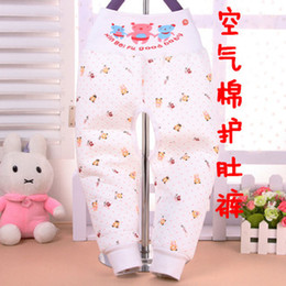 Wholesale Baby Value recommend warm air cotton pants waist pants belly baby care Qiuku warm open files A012