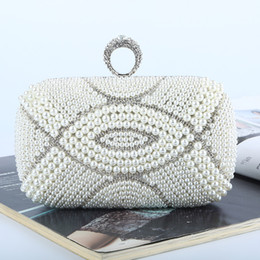 Factory Wholesale brand new handmade beautiful beaded diamond evening bag clutch with satin pu for wedding banquet party porm
