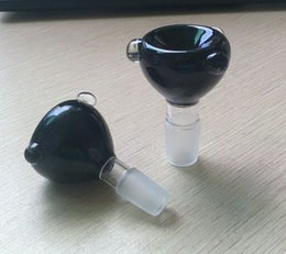 Wholesale Factory new design black glass mm mm glass bowl for glass water pipe use for oil rig