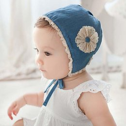 Wholesale Girls Caps Kids Hats Korean Flower Beanie Hat Caps Kids Cap Lace Princess Caps Hats Baby Hat Children Caps Kid Infant
