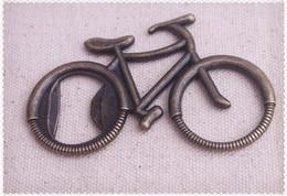 Wholesale Creative classic Bicycle shape Bronze stainless steel bottle openers gift box wedding favor wedding gift