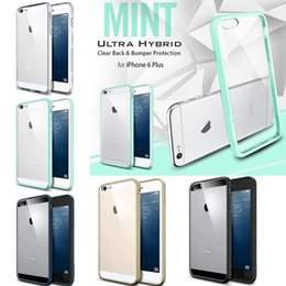 Wholesale Colorful Slim Ultra SGP Hybrid Case TPU bumper Clear Crystal Transparent Panel Cover for iPhone S Case For iPhone S Plus MOQ