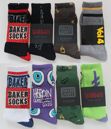 Wholesale-5pais=10pieces Fashion Jasper Baker Harajuku summer Style Thick Terry Sport Socks Skateboard Cotton men's socks