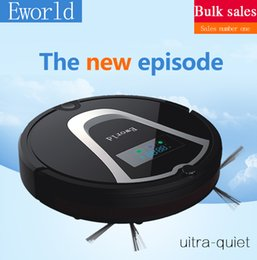 Wholesale Free to EUR Eworld M884 New Design Floor Wash Robot Smart Vacuum Cleaners Robot Infrared Induction Receiver Alarm Function with Mop Black