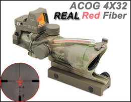 New Trijicon ACOG 4X32 Real Fiber Source Red Illuminated(Real Red Fiber) Tactical Rifle Scope w  RMR Micro Red Dot Sight A-TACS