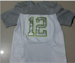 Wholesale 2015 Pro Bowl All Star American Football Jerseys Quarterback White with Grey New Jersey High Quality Brand Embroidery Football Wears