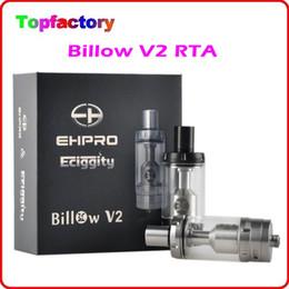 Billow v2 en Ligne-100% authentique Ehpro Bulow V2 RTA 5ml Rebuidable réservoir atomiseur cuivre contacter Dual System AFC avec 4 Hoes bricolage air Base de navire DHL gratuit