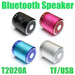 Colorful Portable Bluetooth Speaker T2020A Wireless Mini Super Bass Hands Free Speaker Home Outdoor Stereo For MP3 MP4 Free Shipping MIS061