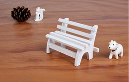 Wholesale Free home delivery chair wooden handicraft furnishing articles furnishing articles mini white park creative gift items15071017